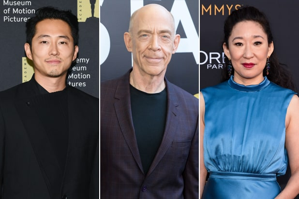 Invincible cast Amazon Steven Yeun, J.K. Simmons, Sandra Oh