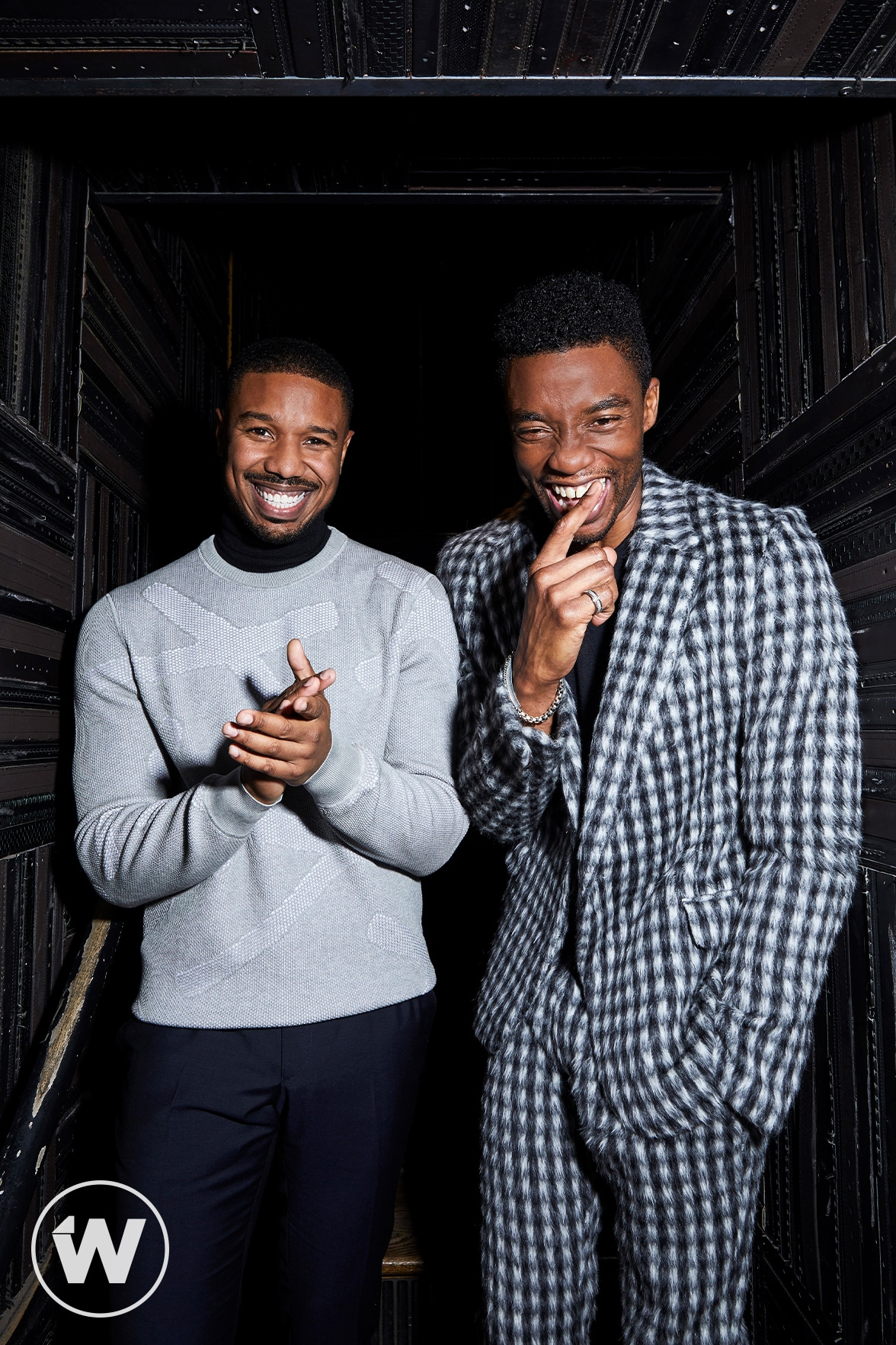 """Black Panther"" Michael B Jordan and Chadwick Boseman"