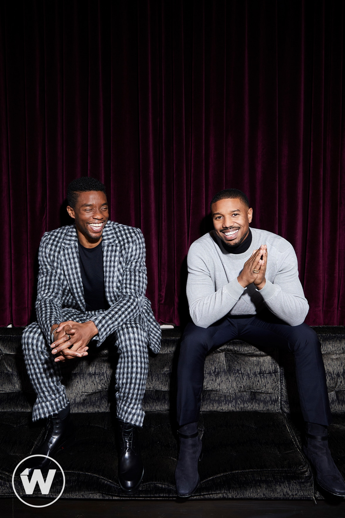 """Black Panther"" Chadwick Boseman and Michael B Jordan"