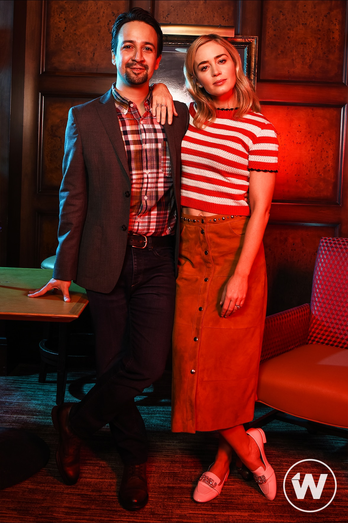 'Mary Poppins Returns' Lin-Manuel Miranda and Emily Blunt