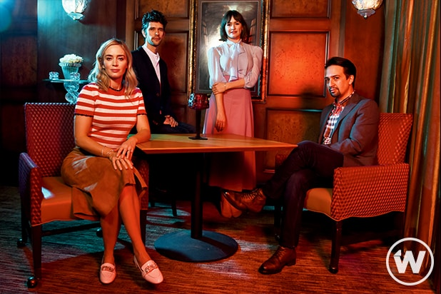 'Mary Poppins Returns' Emily Blunt, Ben Whishaw, Emily Mortimer, Rob Marhsall, Lin-Manuel Miranda