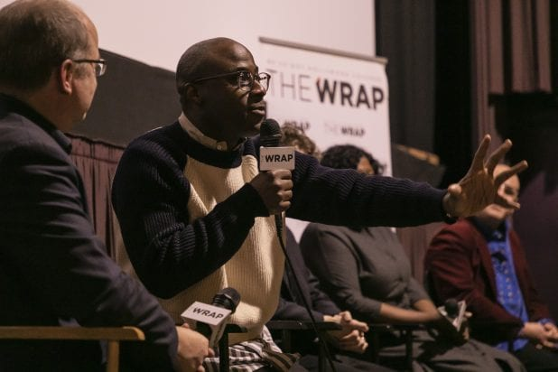 """If Beale Street Could Talk"" screening and Q&A with director Barry Jenkins, cinematographer James Laxton, and composer Nicholas Britell. Hosted by The Wrap and held at the Laemmle Music Hall in Beverly Hills."
