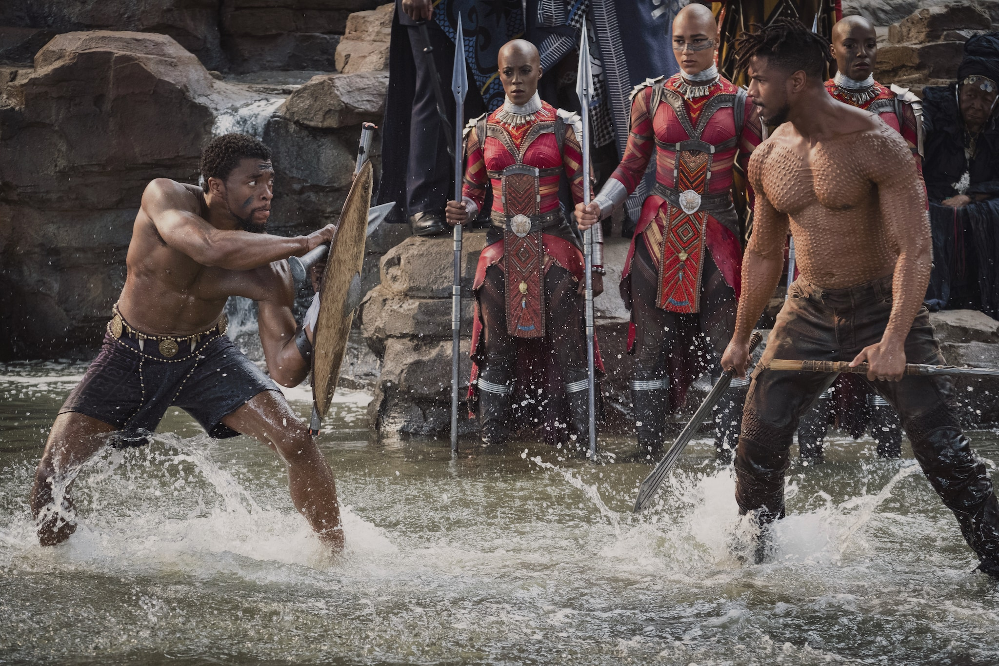 'Black Panther' stars Chadwick Boseman and Michael B. Jordan