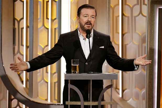 how to stream watch the 2020 golden globes ceremony ricky gervais getty
