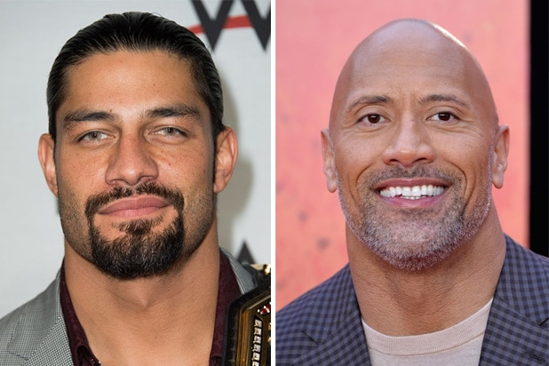 roman reigns dwayne johnson the rock