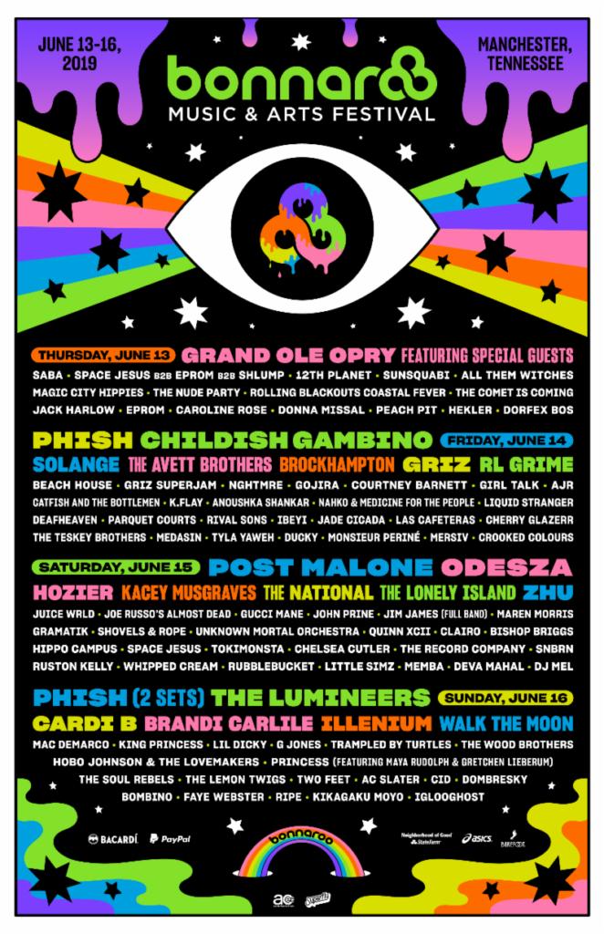 Bonnaroo poster 2019
