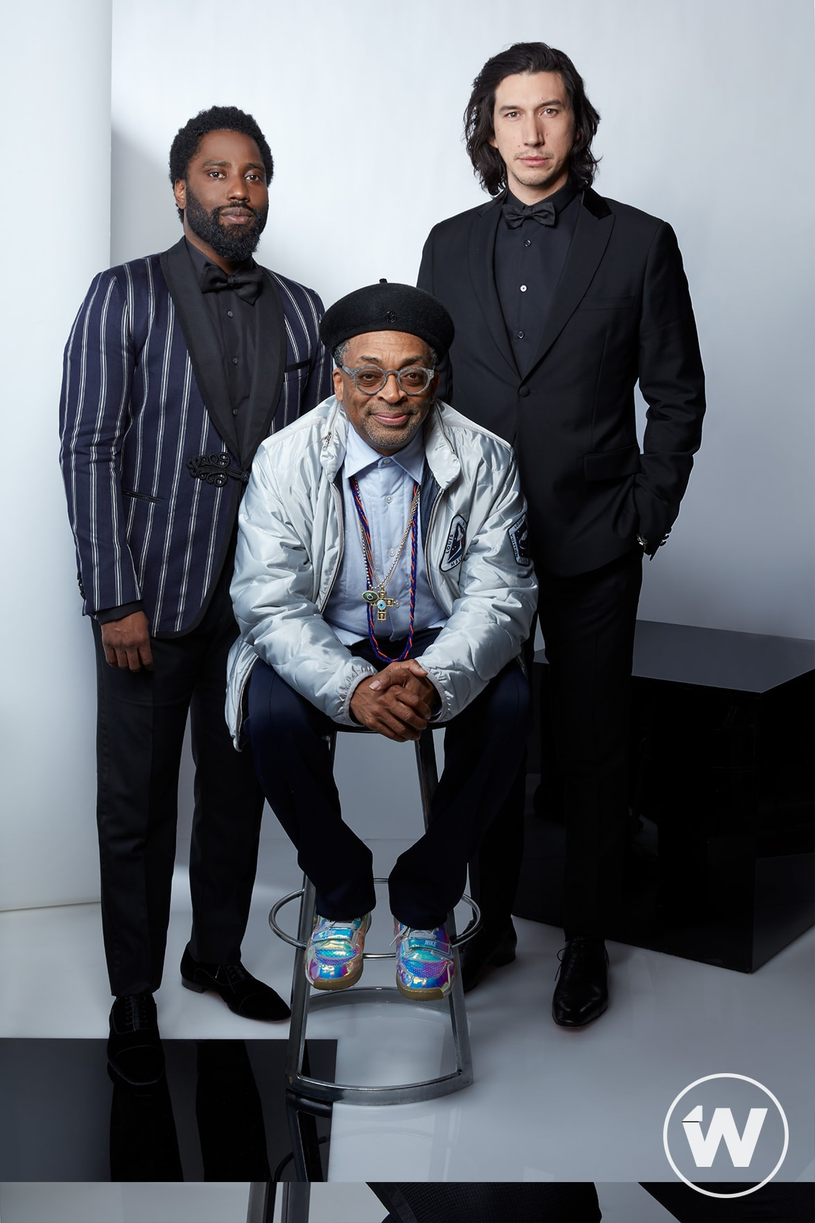 John David Washington, Spike Lee, and Adam Driver, Blackkklansman