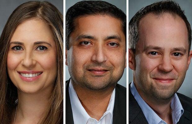 Lisa Roos, Deepak Jesrani and Mike Nunes