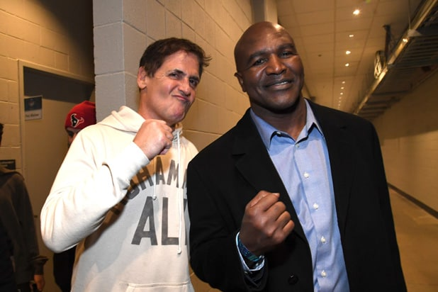 Mark Cuban and Evander Holyfield Bud Light Super Bowl Music Fest