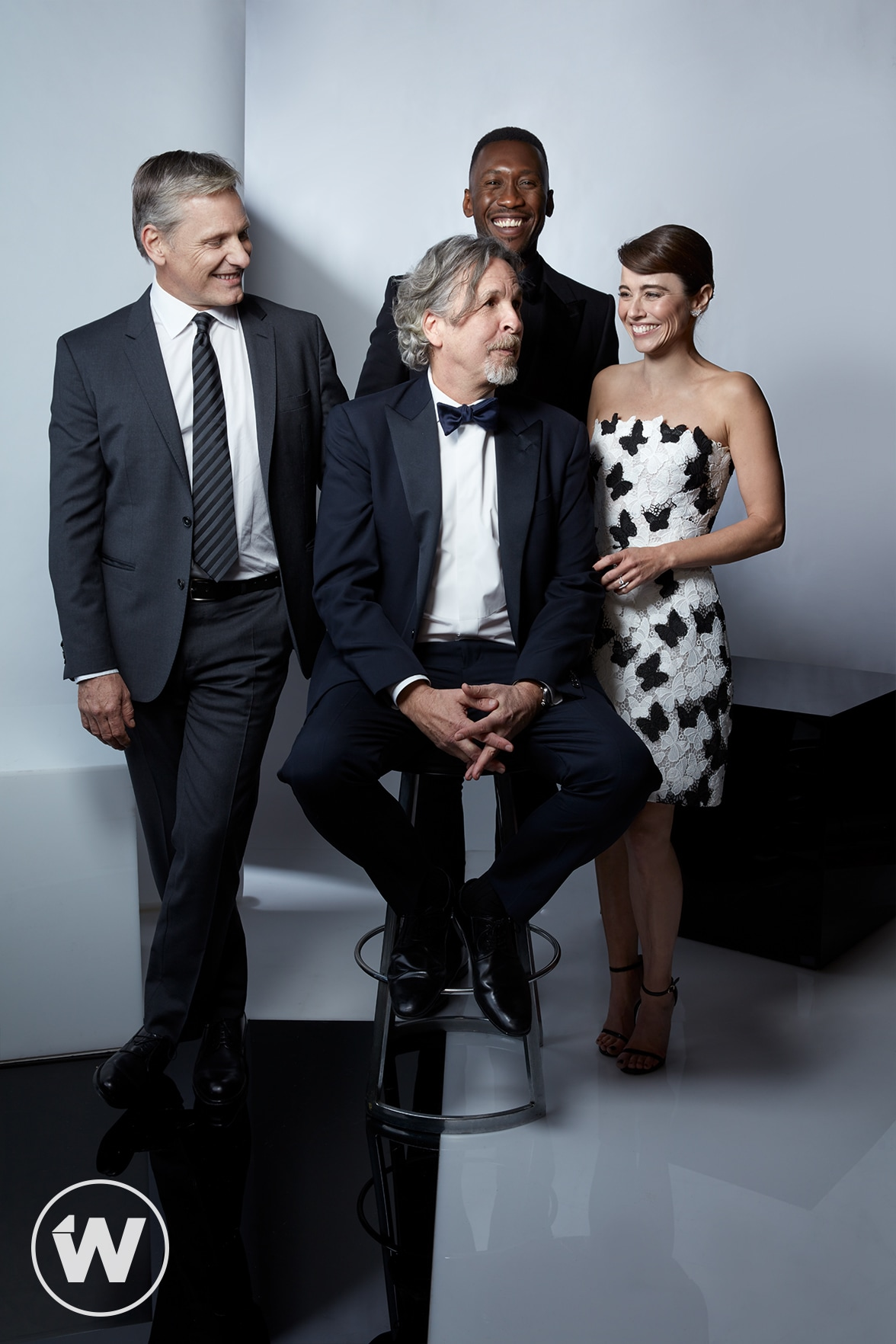 Peter Farrelly, Viggo Mortensen, Mahershala Ali and Linda Cardellini, Greenbook