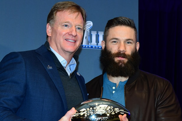 Roger Goodell and Julian Edelman