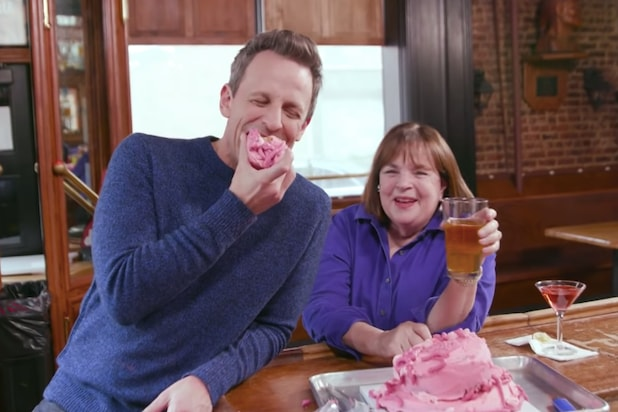 Marvelous Seth Meyers And Barefoot Contessa Ina Garten Get Very Day Drunk Funny Birthday Cards Online Inifodamsfinfo