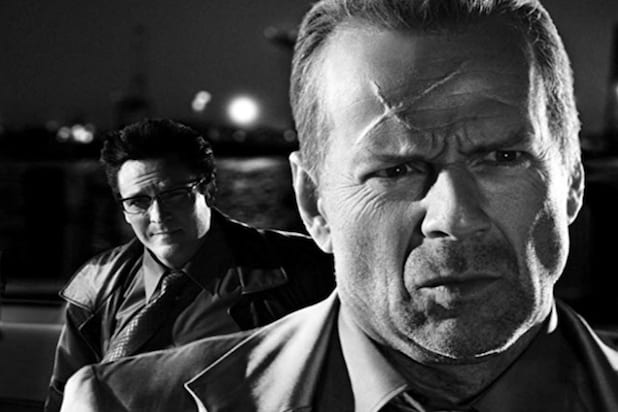 "Still of ""Sin City"" with Bruce Willis and Michael Madsen"