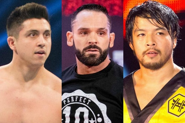 TJP, Ty Dillinger and Hideo Itami