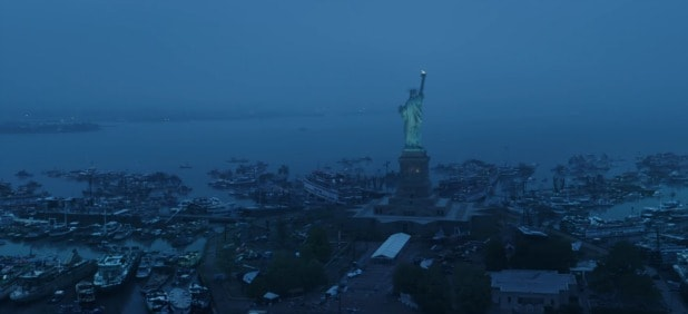 avengers endgame super bowl commercial liberty island