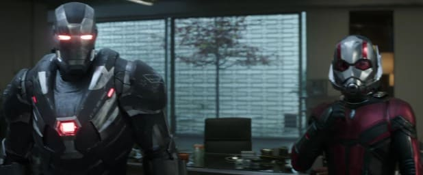 avengers endgame super bowl trailer ant-man and war machine teaming up
