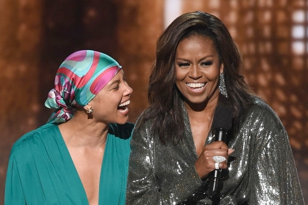 michelle obama alicia keys grammys