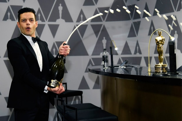 Oscar Party Report: A Wild Cork-Popping Night for Rami Malek, Lady Gaga and More (Photos)