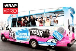 WRAP PRO ONLY: young hollywood tour bus