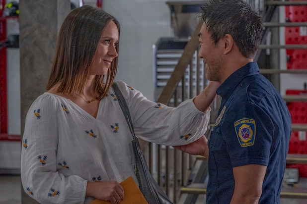 '9-1-1' Chief on Why That Gutting Maddie-Chimney-Doug Cliffhanger Won't Be Resolved Right Away