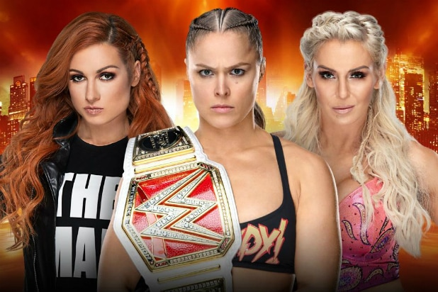 Becky Lynch, Ronda Rousey and Charlotte Flair