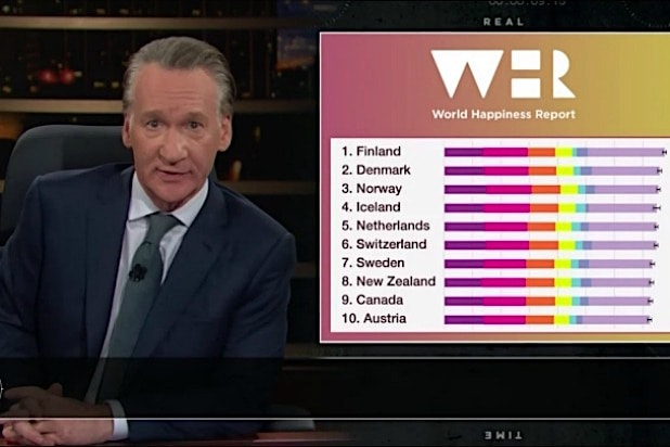 Bill Maher Asks GOP Why 'All the Happiest Countries in the World' Embrace Socialism (Video)