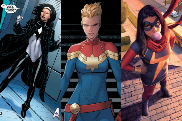 Monica Rambeau Carol Danvers and Kamala Khan