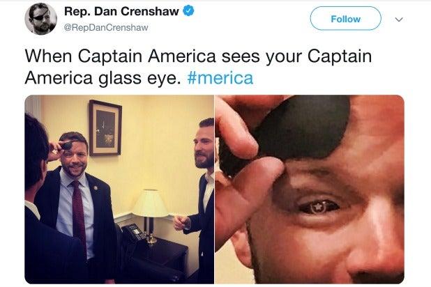 Captain America Chris Evans Dan Crenshaw Glass Eye
