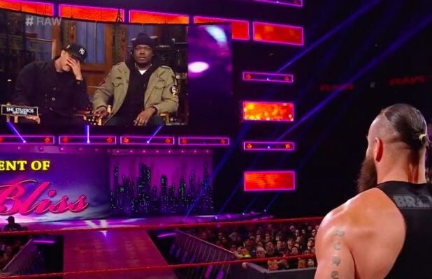 Colin Jost, Braun Strowman and Michael Che talk WrestleMania