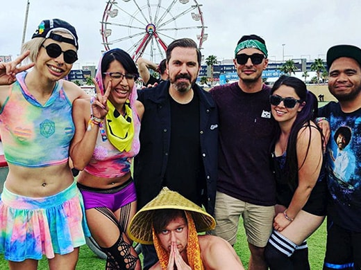 EDC 2018 - Pasquale Rotella with Fans Infield - Instagram