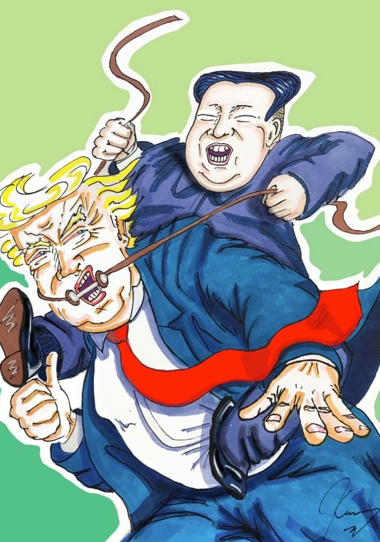 Jim Carrey Trump Kim Jung Un Feb 2019
