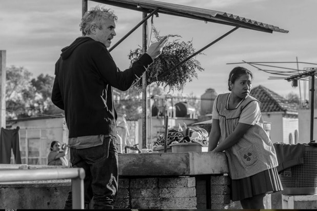 """Alfonso Cuaron on the set of """"Roma"""""""