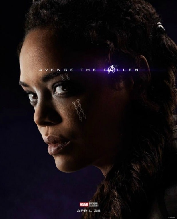 avengers endgame character poster valkyrie tessa thompson