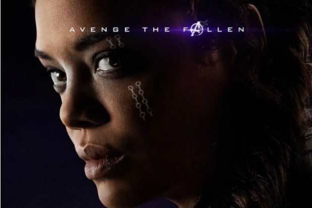avengers endgame character posters say valkyrie tessa thompson survived thanos snap