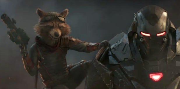 avengers endgame trailer rocket raccoon looks hype war machine