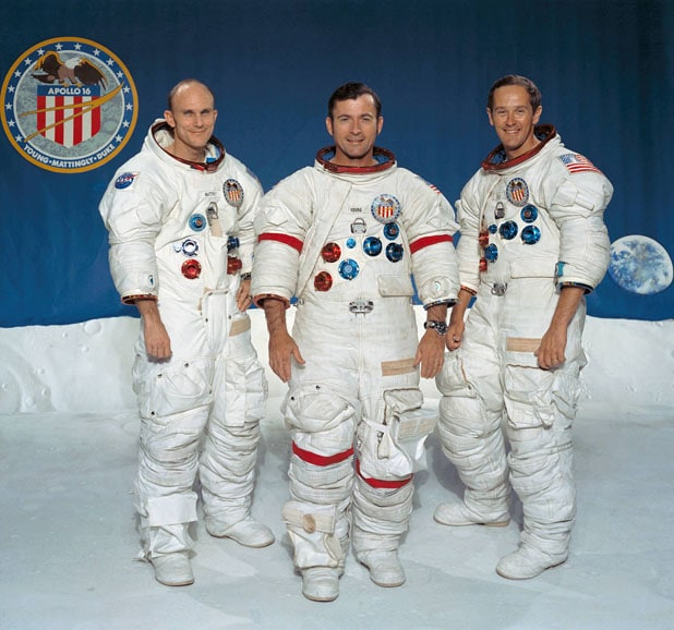 Apollo 16 Crew Thomas K Mattingly II, John W. Young, Charles M. Duke Jr.