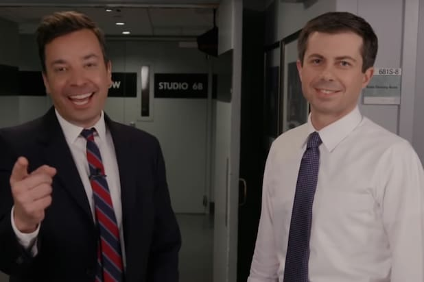 Pete Buttigieg Isn't Too Impressed by Jimmy Fallon's Impersonation of Him (Video)