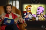 Chris Evans Thanos Thor Avengers Endgame Jimmy Kimmel