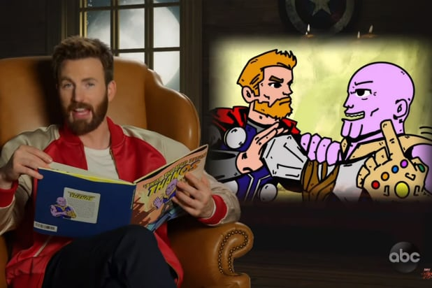 Jimmy Kimmel Christmas.Avengers Endgame Cast Does Infinity War As A Christmas