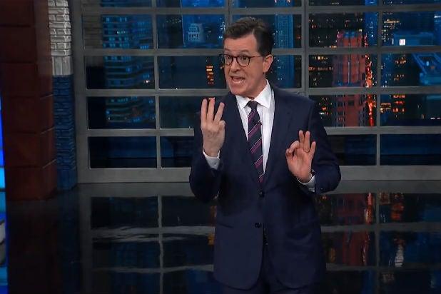 Colbert Mueller Barr Trump