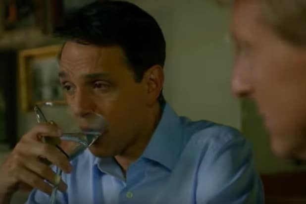 Ralph Macchio drinks a martini on 'Cobra Kai'