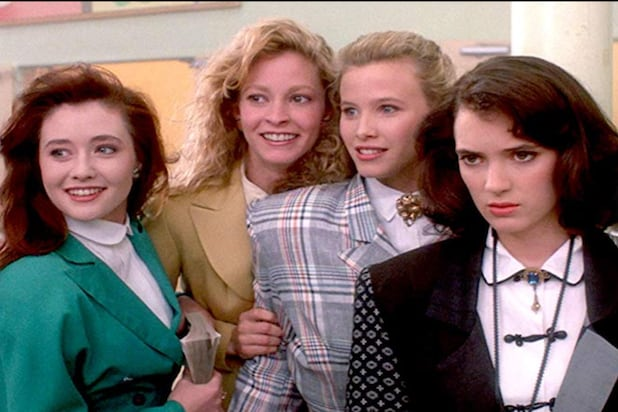 "Still of Shannen Doherty, Lisanne Falk Winona Ryder,and Kim Walker in ""Heathers"""