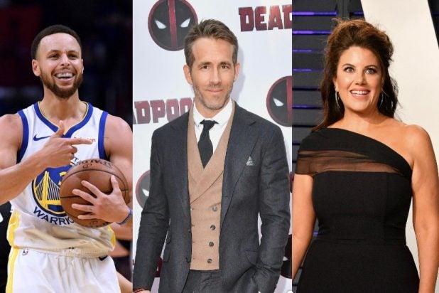 Ryan Reynolds, Monica Lewinsky, Steph Curry