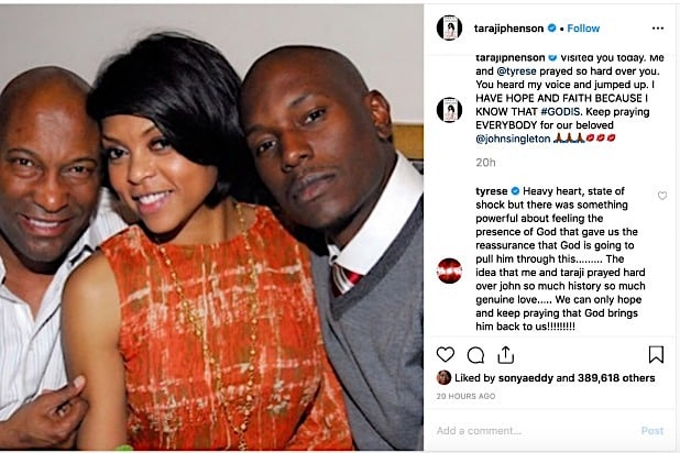 Taraji P Henson John Singleton Tyrese Gibson Instagram