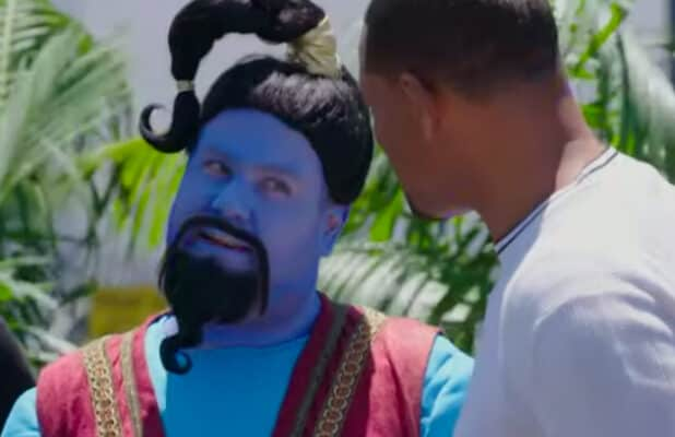 James Corden and Will Smith in 'Crosswalk the Musical: Aladdin'