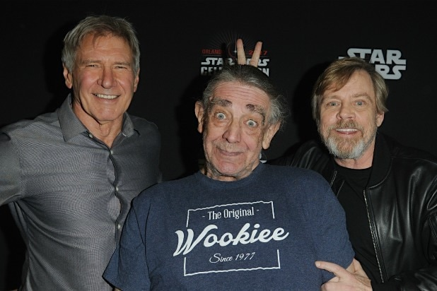 Peter Mayhew Harrison Ford Mark Hamill