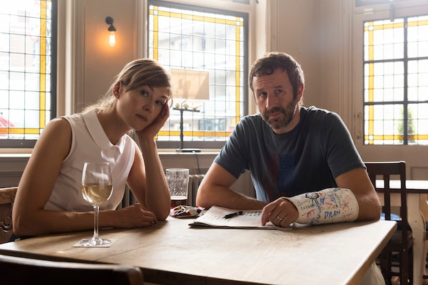 Rosamund Pike and Chris O'Dowd in State of the Union