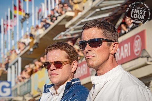 Christian Bale, Matt Damon Take the Wheel of Classic Cars in 'Ford v Ferrari' First Look (Photos)