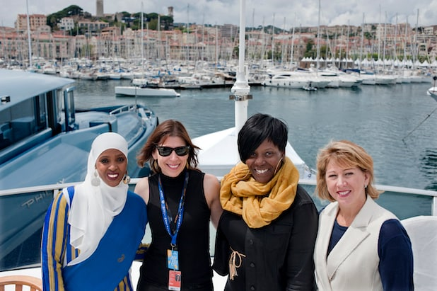 Ifrah Ahmed, Alice Austen, Yolonda Brinkley and Sharon Waxman at TheWrap's 10th anniversary event in Cannes