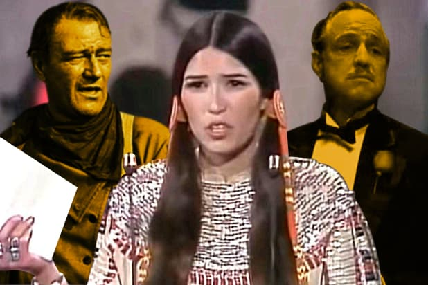 Sacheen Littlefeather Marlon Brando John Wayne Oscar Godfather